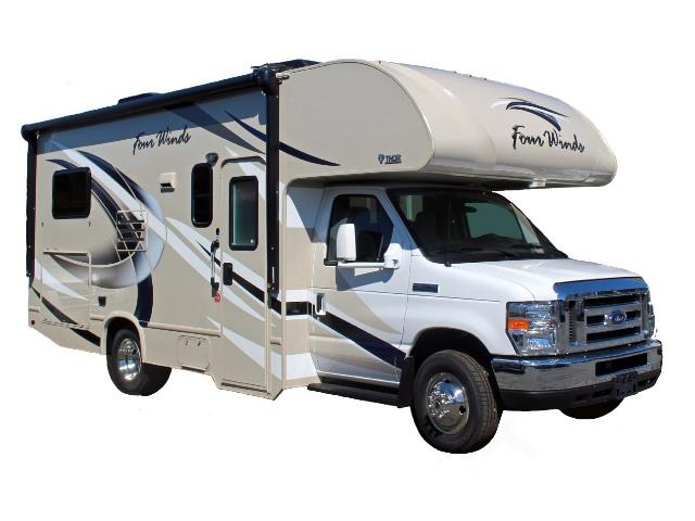 Meridian RV Small Class C on white background