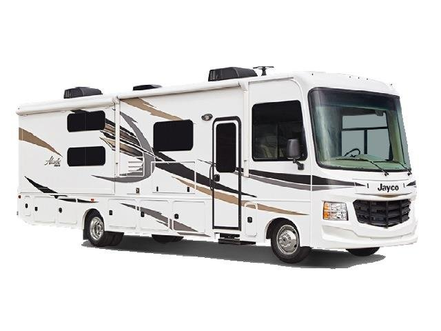 Traveland Class A RV on white background