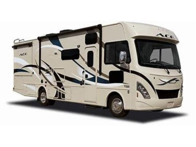Meridian RV Class A on white background