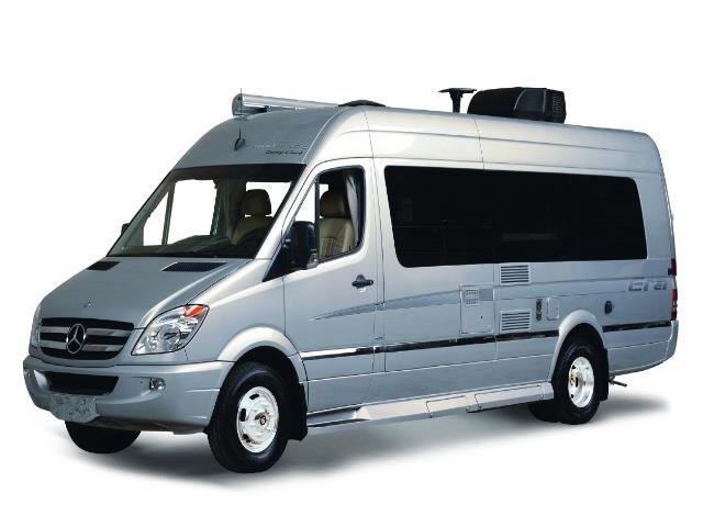 Traveland RV rentals 23' Class B Era silver on white background