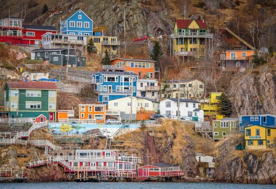 Newfoundland Coast Colourful Houses