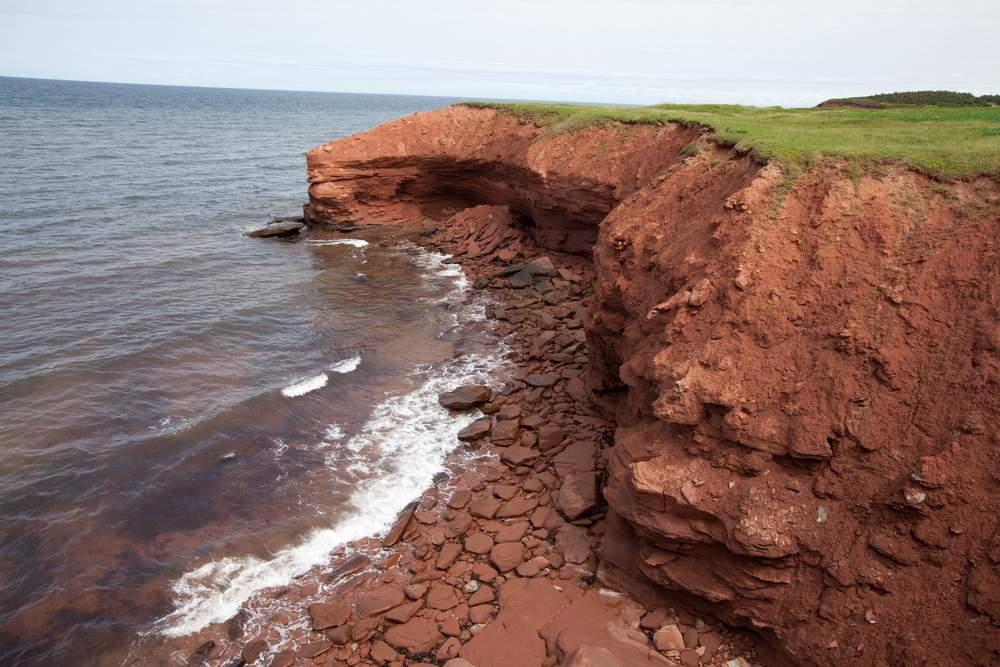 red cliff of PEI National Park