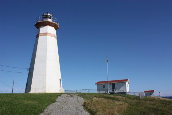 Newfoundland Cape Ray Lighthouse on a sunny say