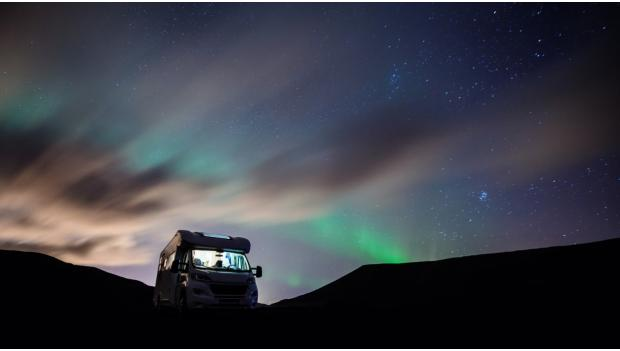 Winter RV Northern LIghts