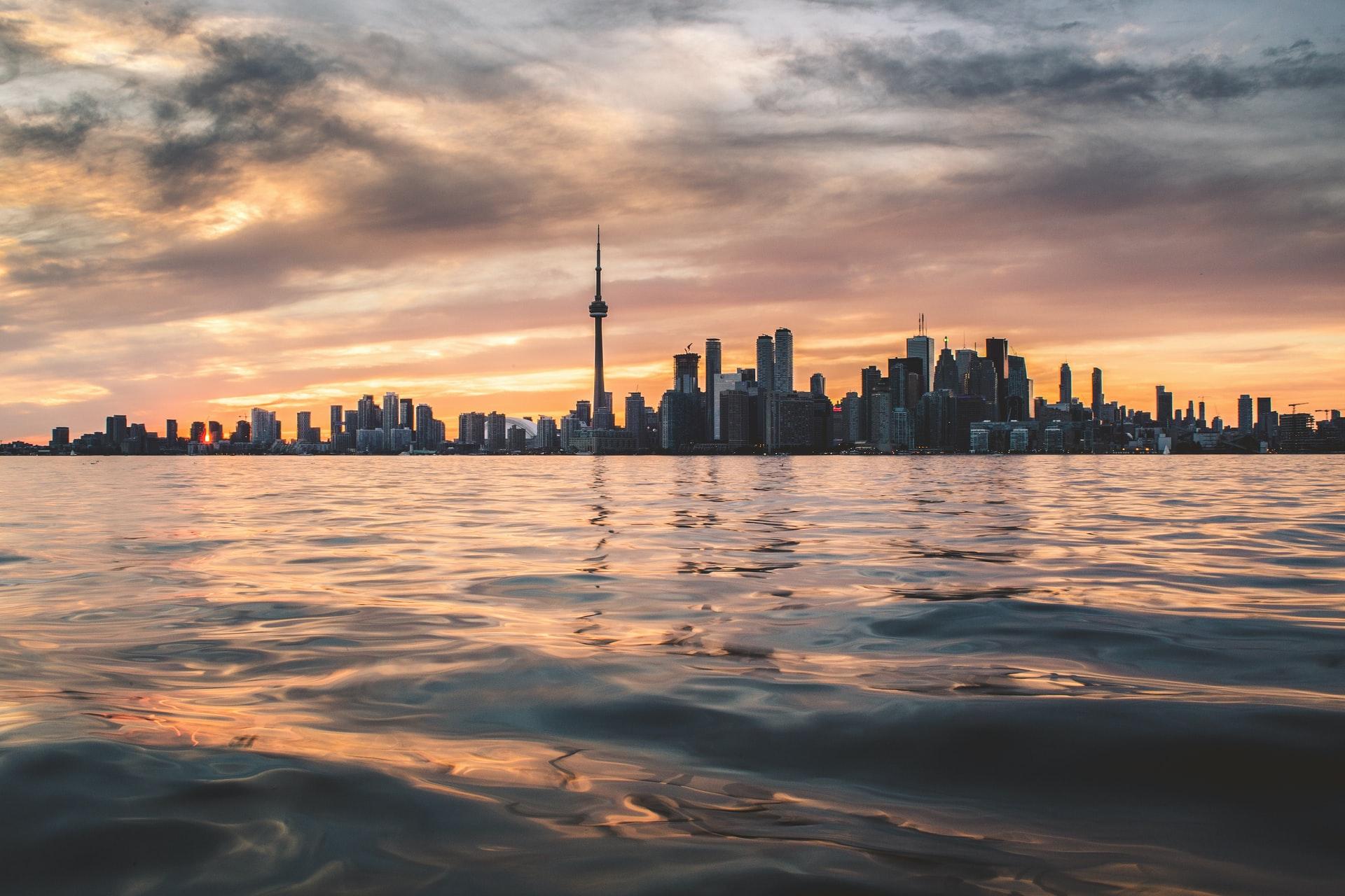 Toronto Canada skyline as dusk